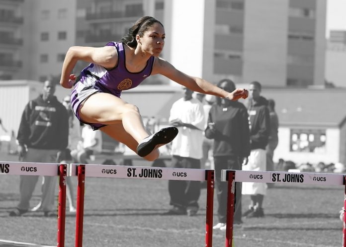 hurdles track race competition